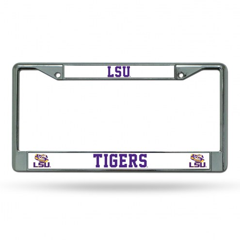 LSU Tigers College Chrome License Plate Frame