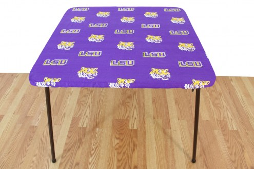 LSU Tigers Card Table Cover