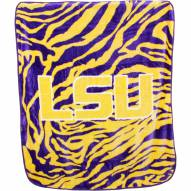 LSU Tigers Raschel Throw Blanket