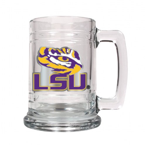 LSU Tigers College Glass Tankard Beer Mug 2-Piece Set
