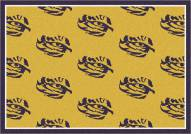 LSU Tigers College Repeat Area Rug