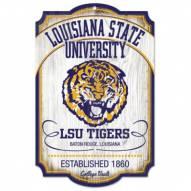LSU Tigers College Vault Wood Sign