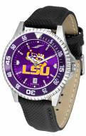 LSU Tigers Competitor AnoChrome Men's Watch - Color Bezel