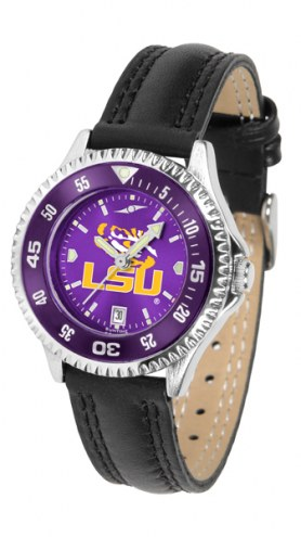 LSU Tigers Competitor AnoChrome Women's Watch - Color Bezel