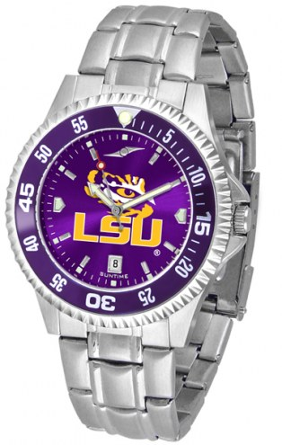 LSU Tigers Competitor Steel AnoChrome Color Bezel Men's Watch