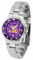 LSU Tigers Competitor Steel AnoChrome Women's Watch - Color Bezel