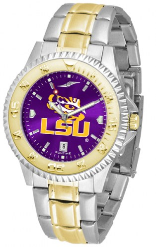 LSU Tigers Competitor Two-Tone AnoChrome Men's Watch