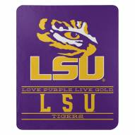 LSU Tigers Control Fleece Blanket