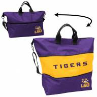 LSU Tigers Crosshatch Expandable Tote