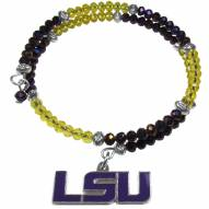 LSU Tigers Crystal Memory Wire Bracelet