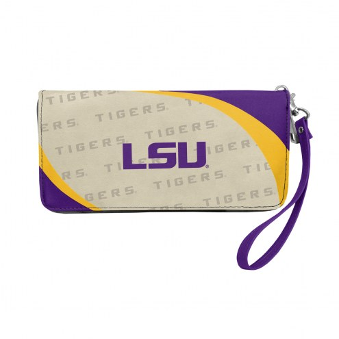 LSU Tigers Curve Zip Organizer Wallet
