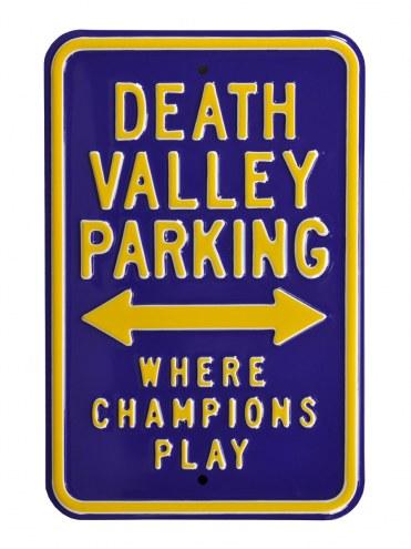 LSU Tigers Death Valley Parking Sign
