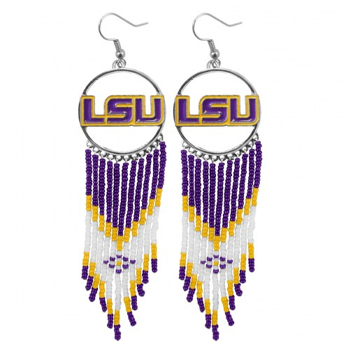 LSU Tigers Dreamcatcher Earrings