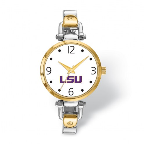 LSU Tigers Elegant Ladies Two-Tone Watch