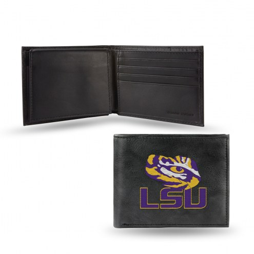 LSU Tigers Embroidered Leather Billfold Wallet
