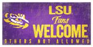 LSU Tigers Fans Welcome Sign