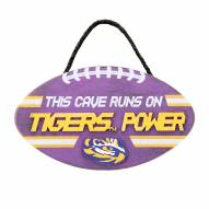 LSU Tigers Football Power Wood Sign