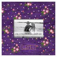 "LSU Tigers Floral 10"" x 10"" Picture Frame"