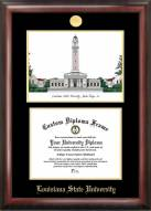 LSU Tigers Gold Embossed Diploma Frame with Lithograph