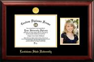 LSU Tigers Gold Embossed Diploma Frame with Portrait