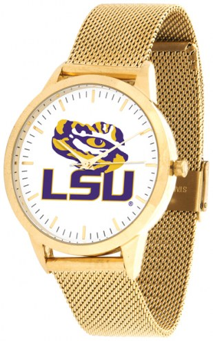 LSU Tigers Gold Mesh Statement Watch
