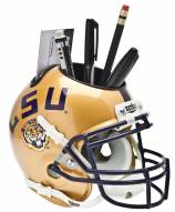LSU Tigers Gold Schutt Football Helmet Desk Caddy