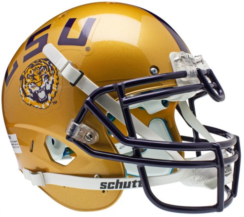 LSU Tigers Gold Schutt XP Authentic Full Size Football Helmet