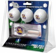 LSU Tigers Golf Ball Gift Pack with Kool Tool