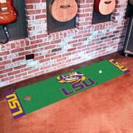 LSU Tigers Golf Putting Green Mat