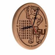 LSU Tigers Laser Engraved Wood Clock