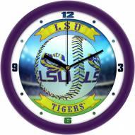 LSU Tigers Home Run Wall Clock