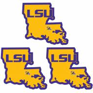 LSU Tigers Home State Decal - 3 Pack
