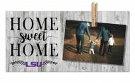 LSU Tigers Home Sweet Home Clothespin Frame