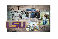 LSU Tigers I Love My Family Clip Frame