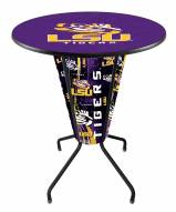 Lsu Tigers Indoor Outdoor Lighted Pub Table