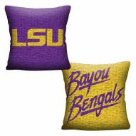 LSU Tigers Invert Woven Pillow