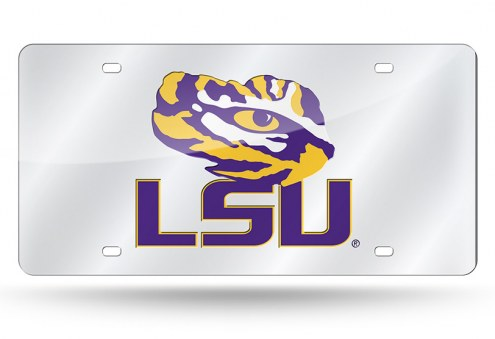 LSU Tigers Laser Cut License Plate