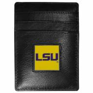 LSU Tigers Leather Money Clip/Cardholder in Gift Box