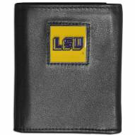 LSU Tigers Leather Tri-fold Wallet
