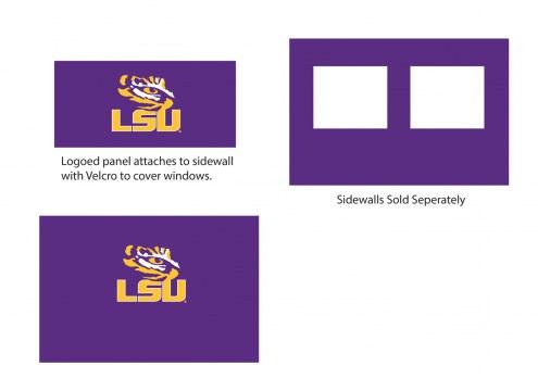 LSU Tigers Logo Canopy Sidewall Panel (Attaches to Window Sidewall)