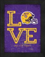 LSU Tigers Love My Team Vertical Color Wall Decor