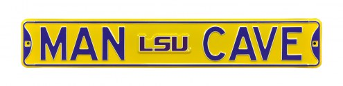 LSU Tigers Man Cave Street Sign