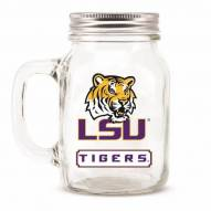 LSU Tigers Mason Glass Jar