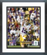 LSU Tigers Matt Flynn Action Framed Photo