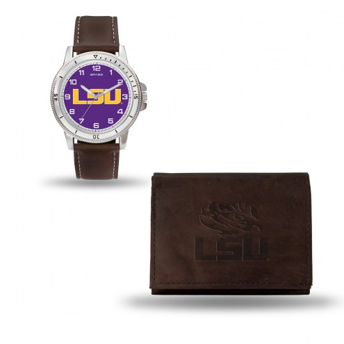 LSU Tigers Men's Niles Watch & Wallet Set