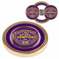 LSU Tigers Challenge Coin with 2 Ball Markers