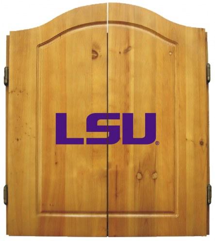 LSU Tigers NCAA Complete Dart Board Cabinet Set