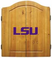 LSU Tigers NCAA Complete Dart Board Cabinet Set