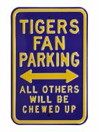 LSU Tigers NCAA Embossed Parking Sign