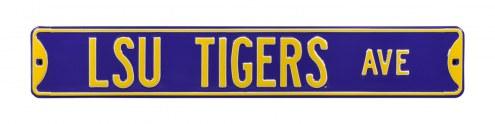 LSU Tigers NCAA Embossed Street Sign